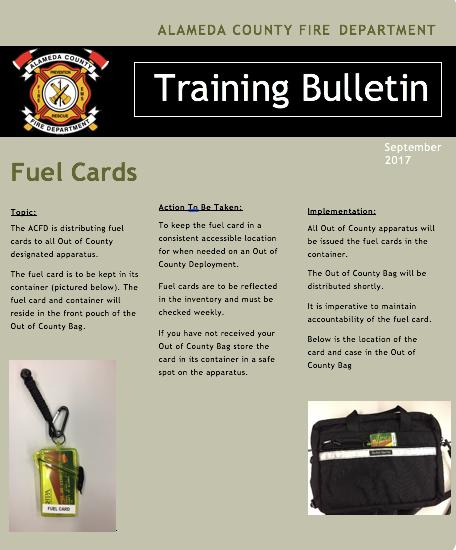 Fuel Card Procedures
