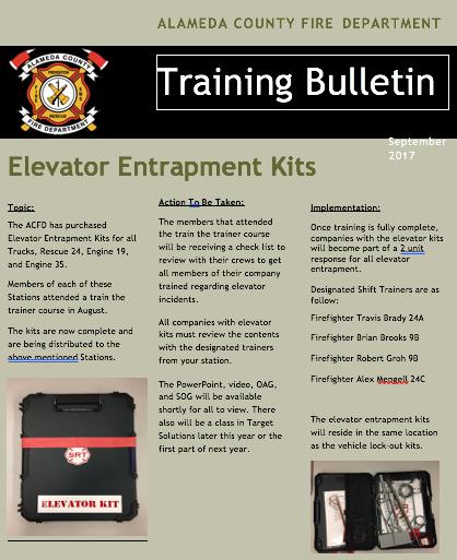 Elevator Entrapment Kits