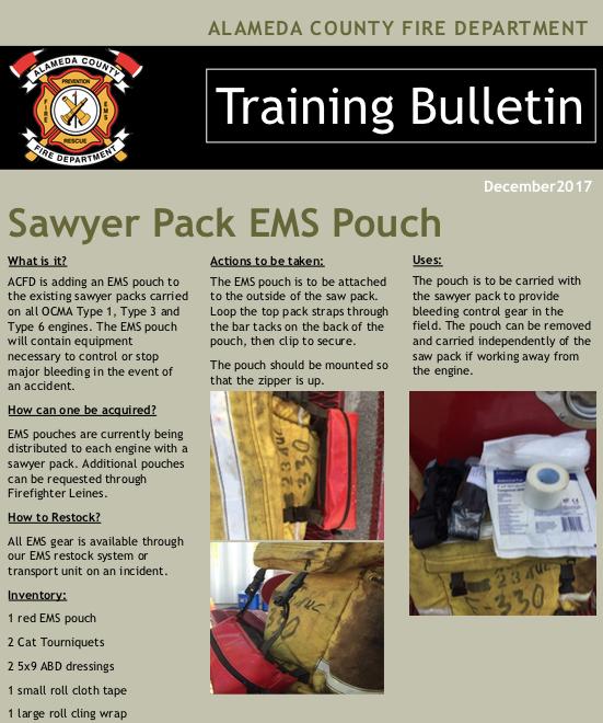 Sawyer EMS Pack